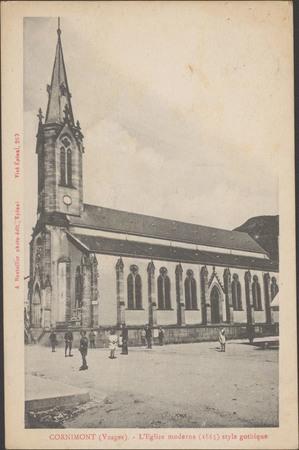 Cornimont (Vosges), L'Église moderne (1865) style gothique