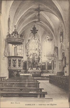 Damblain, Intérieur de l'Église