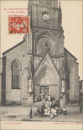Dogneville, La Porte de l'Église après l'inventaire