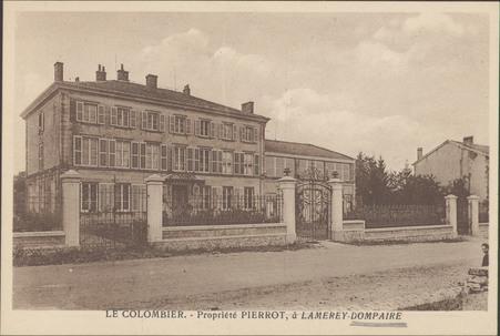 Le Colombier, Propriété Pierrot, à Lamerey-Dompaire