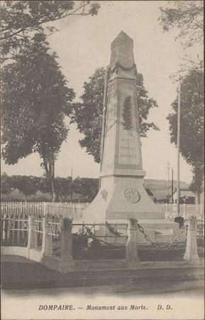 Dompaire, Monument aux Morts