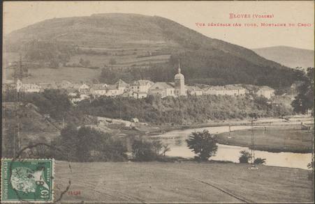 Eloyes (Vosges), Vue générale (Au fond, montagne du Croc)