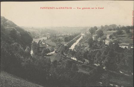 Fontenoy-le-Château, Vue générale sur le canal