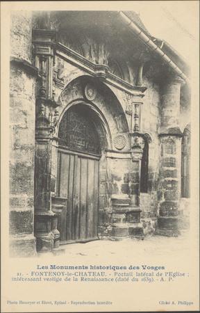 Fontenoy-le-Château, Portail latéral de l'Église