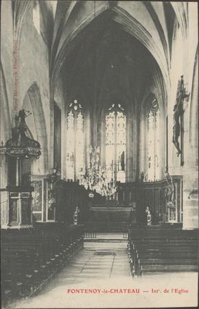 Fontenoy-le-Château, Intérieur de l'Église