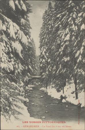 Gérardmer, Le Pont des Fées en hiver