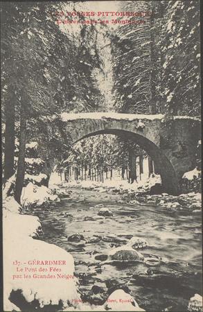 L'Hiver dans les montagnes, Gérardmer, Le Pont des Fées par les Grandes Ne…