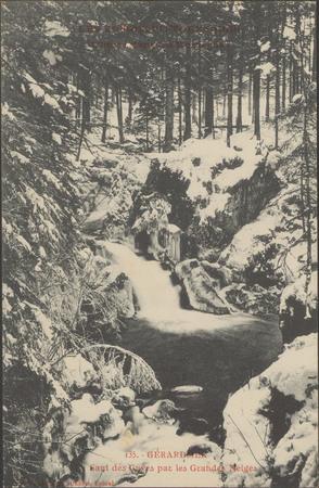 L'hiver dans les montagne, Gérardmer, Saut des Cuves par les Grandes Neiges