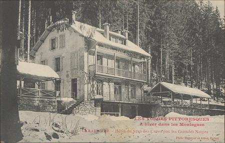 L'hiver dans les montagne, Gérardmer, Hôtel du Saut des Cuves par les gran…