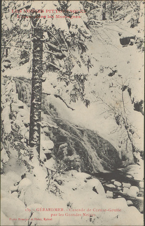 L'Hiver dans les montagnes, Gérardmer, Cascade de Creuse-Goutte par les gr…