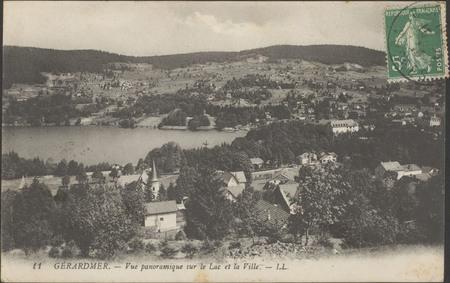 Gérardmer, Vue panoramique sur le lac et la ville