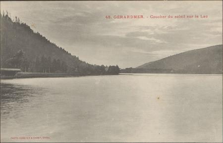 Gérardmer, Coucher du soleil sur le lac