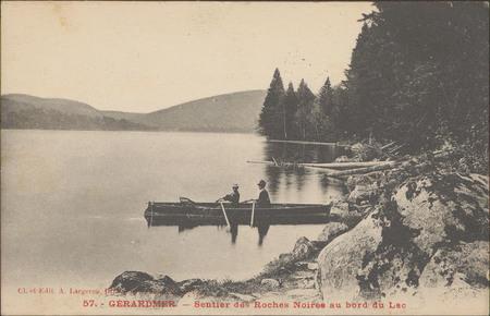 Gérardmer, Sentier des Roches Noires au bord du lac