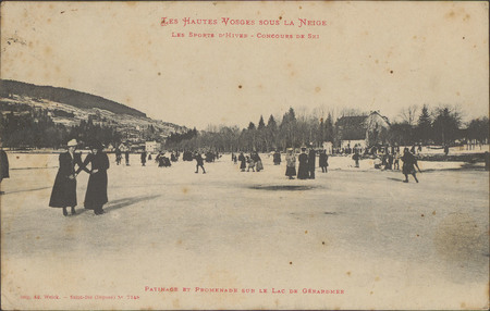 Les Sport d'hiver, Concours de ski, Patinage et promenade sur le lac de Gé…