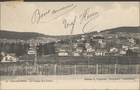 Gérardmer, Le Coteau des Xettes