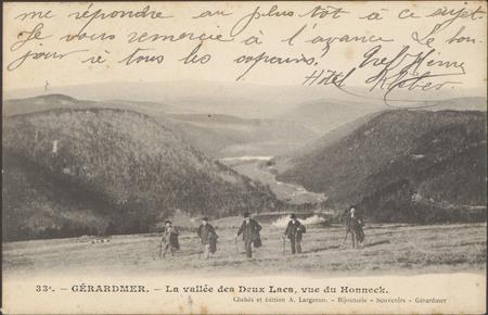 Gérardmer, La Vallée des Deux Lacs, vue du Hohneck