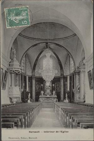 Harsault, Intérieur de l'Église