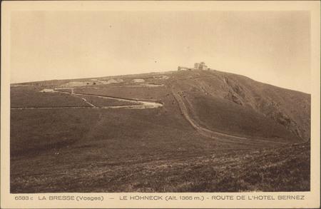 La Bresse (Vosges), Le Hohneck (Alt. 1366 m.), Route de l'hôtel Bernez
