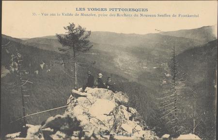 Vue sur la vallée de Munster, prise des rochers du nouveau sentier de Fran…