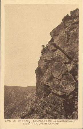 Le Hohneck, Escalade de la Martinswant, L'Arête du petit cervin