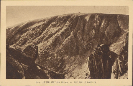 La Schlucht (Alt. 1139 m.), Vue sur Le Hohneck