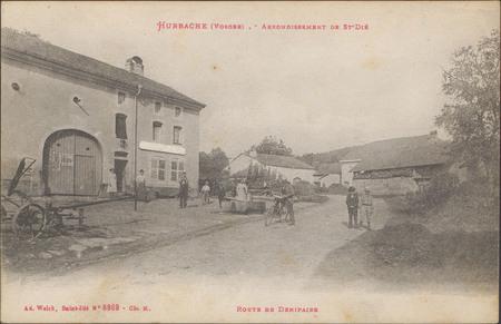 Hurbache (Vosges), Arrondissement de St-Dié, Route de Denipaire