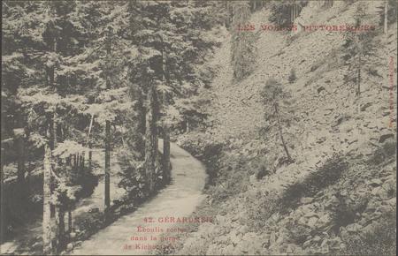 Gérardmer, Eboulis rochaux dans la gorge de Kichompré