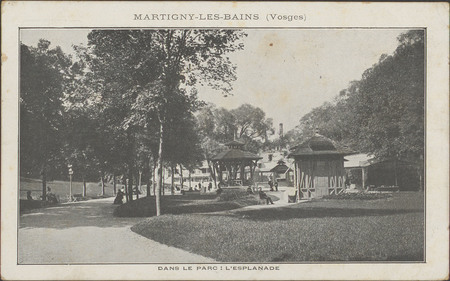 Martigny-les-Bains (Vosges), Dans le parc : l'esplanade