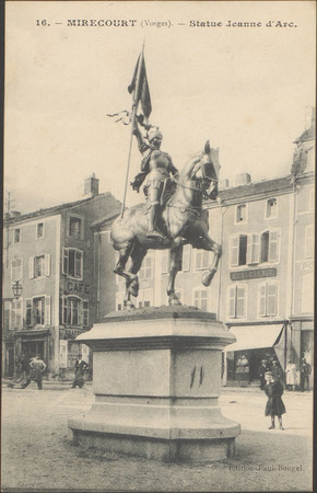 Mirecourt (Vosges), Statue Jeanne d'Arc