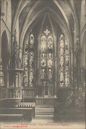 Moriville, Vue intérieure de l'Église