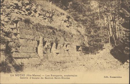 La Mothe (Hte-Marne), Les Remparts, souterrains, Galerie d'écoute du basti…