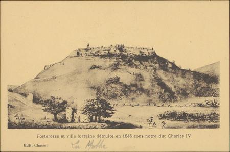 Forteresse et ville lorraine détruite en 1645 sous notre duc Charles IV