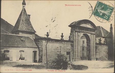 Moyenmoutier, Entrée de l'Abbaye