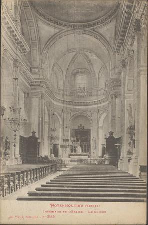 Moyenmoutier (Vosges), Intérieur de l'Église, Le Chœur