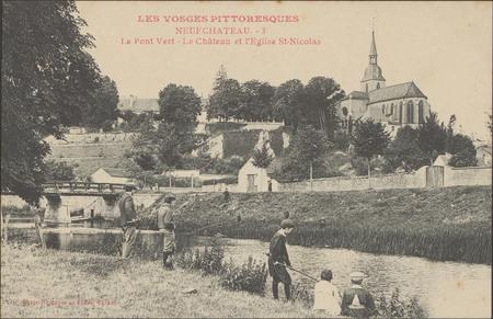 NeufChâteau, Le Pont Vert, Le Château et l'Église St-NiColas