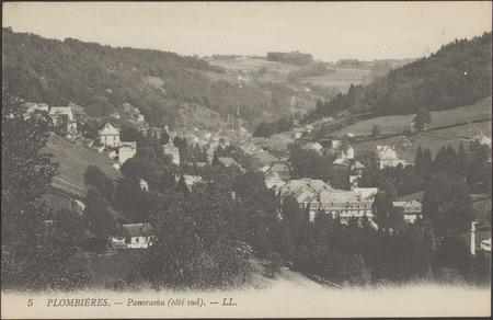 Plombières, Panorama (côté sud)
