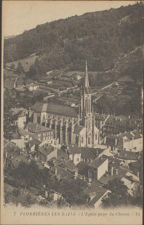 Plombières-les-Bains, L'Église prise du Chonot