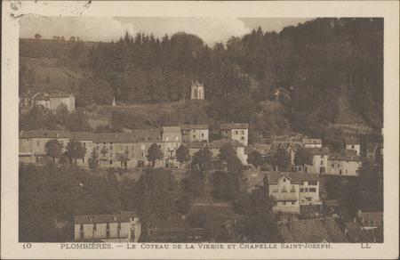 Plombières, Le coteau de la Vierge et la chapelle Saint-Joseph