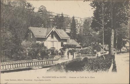 Plombières-les-Bains, Avenue et Café de la gare