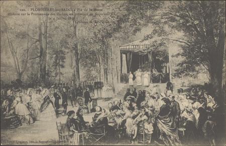 Plombières-les-Bains, Fin de la messe célébrée sur la promenade des Dames …