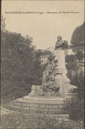 Plombières-les-Bains (Vosges), Monument du Peintre français