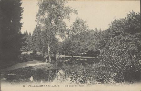 Plombières-les-Bains, Un coin du parc