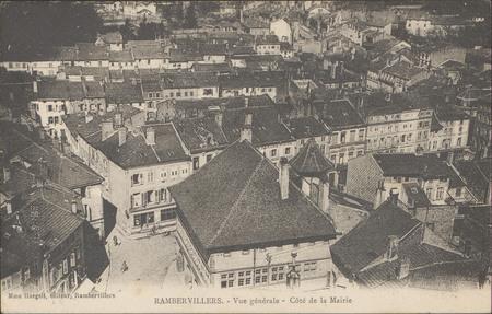 Rambervillers, Vue générale, Côté de la Mairie