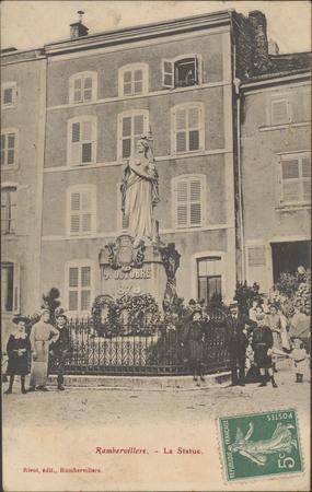 Rambervillers, La Statue