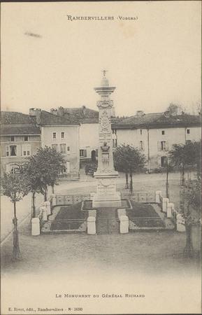 Rambervillers (Vosges), Le Monument du Général Richard