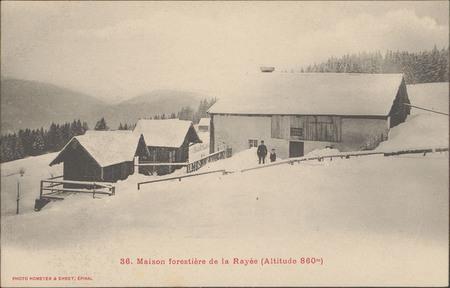 Maison forestière de la Rayée (Altitude 860 m)