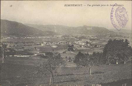 Remiremont, Vue générale prise de Saint Romary