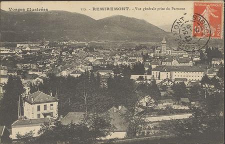 Remiremont, Vue générale prise du Parmont