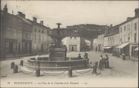 Remiremont, La Place de la Courtine et le Parmont