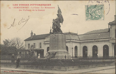Remiremont, La Gare, Le monument des victimes de la Guerre